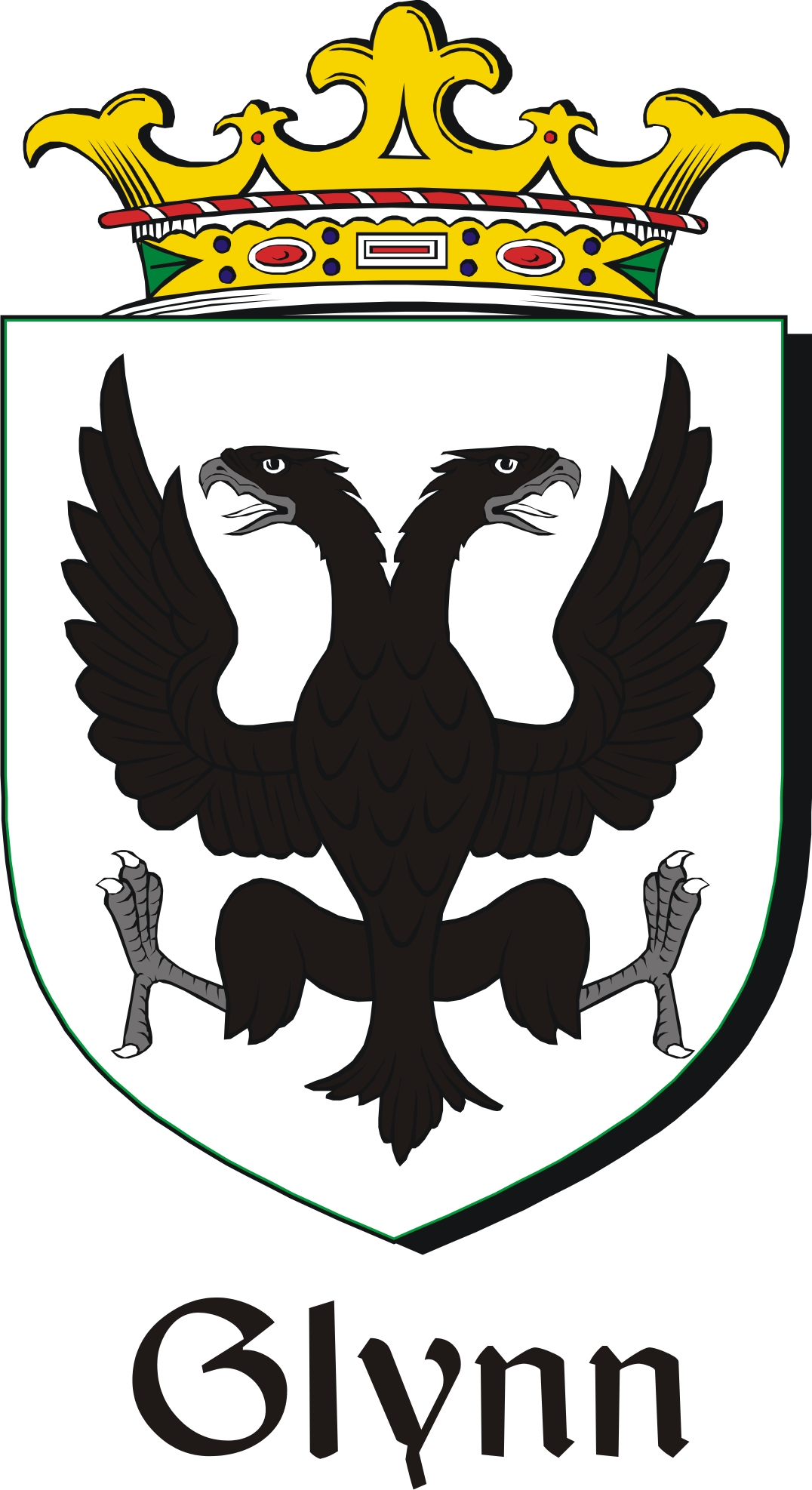 glynn family crest    irish coat of arms image download
