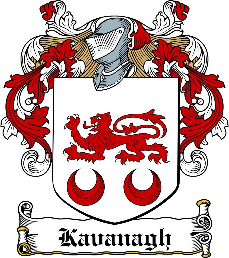 Kavanaugh Family Crest / Irish Coat of Arms Image Download