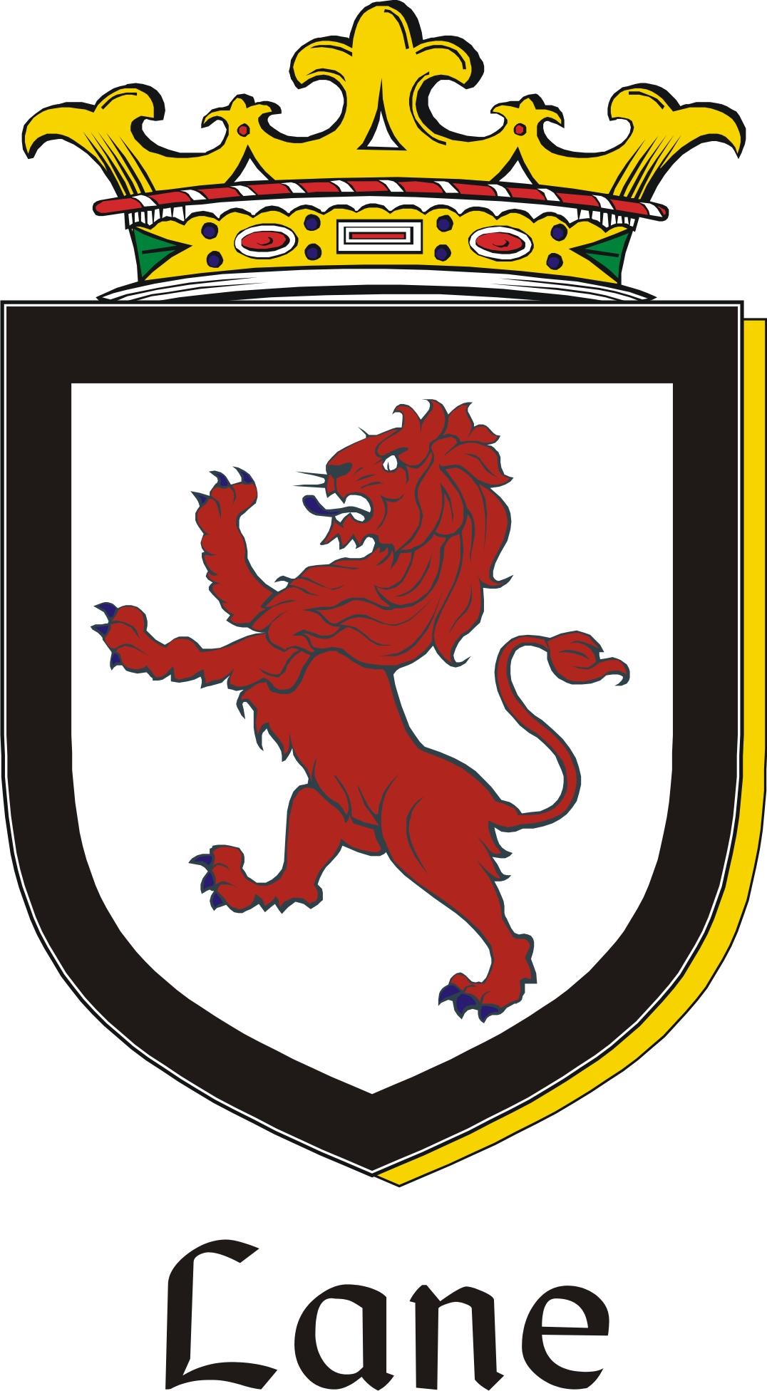 lane family crest    irish coat of arms image download