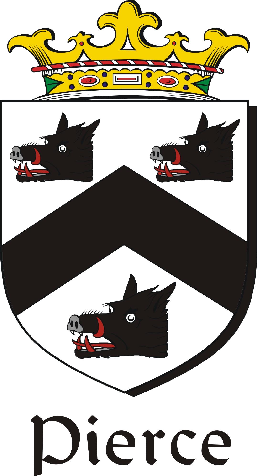pierce family crest    irish coat of arms image download