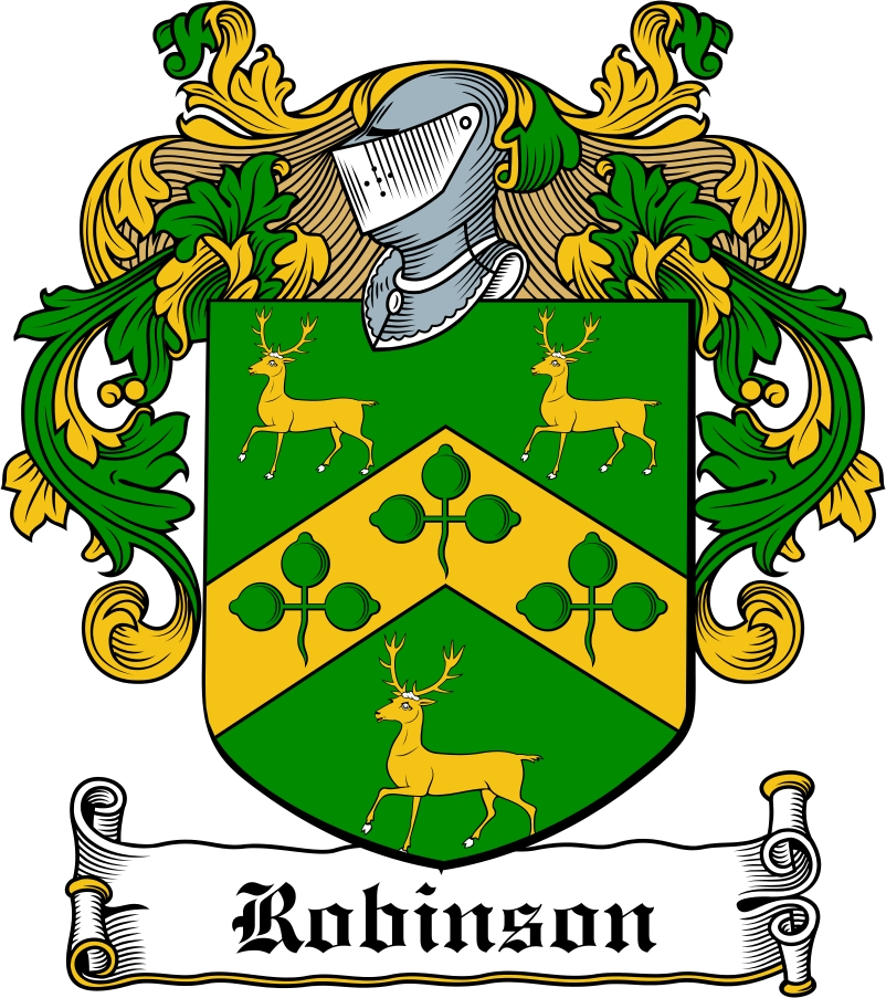 Robinson Family Crest Irish Coat Of Arms Image Download Downloa