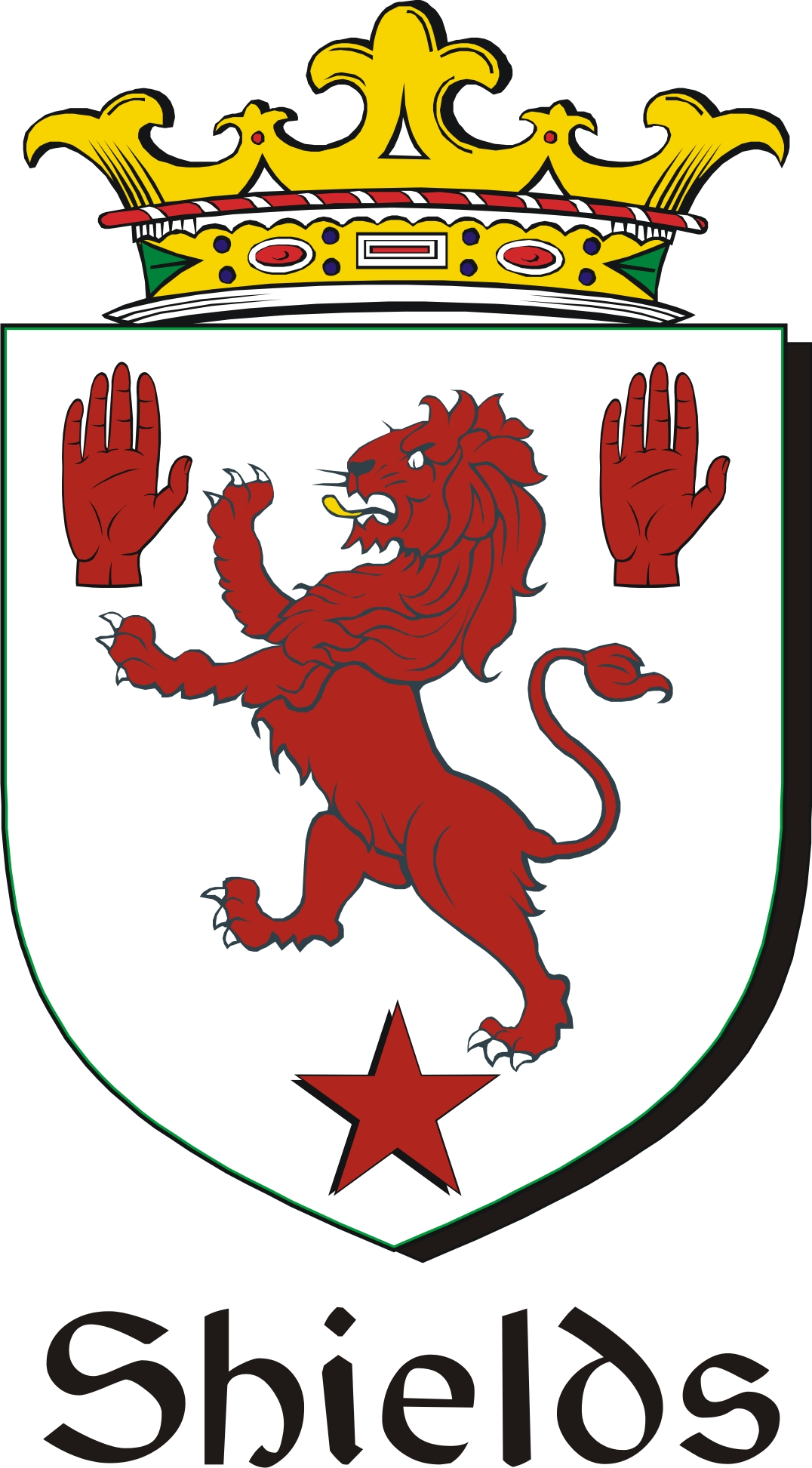 Pay for Shields Family Crest / Irish Coat of Arms Image Download