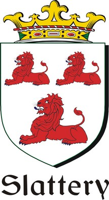 Pay for Slattery Family Crest / Irish Coat of Arms Image Download