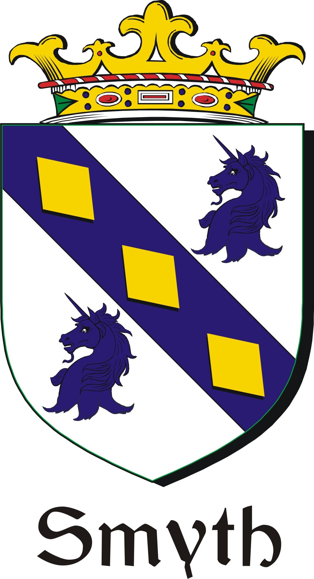 Smyth Family Crest Irish Coat Of Arms Image Download