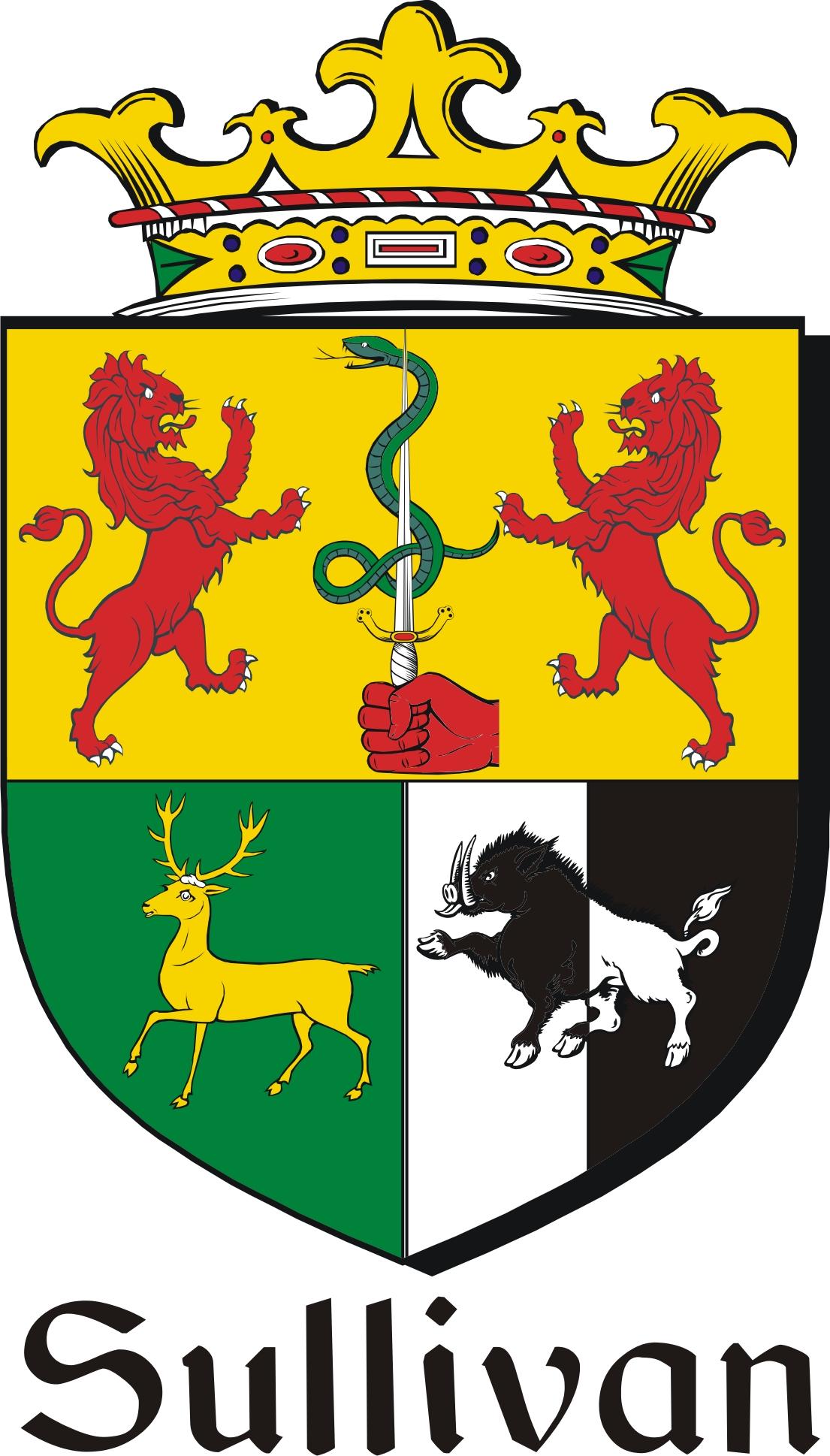 Sullivan Family Crest Irish Coat Of Arms Image Download Downloa