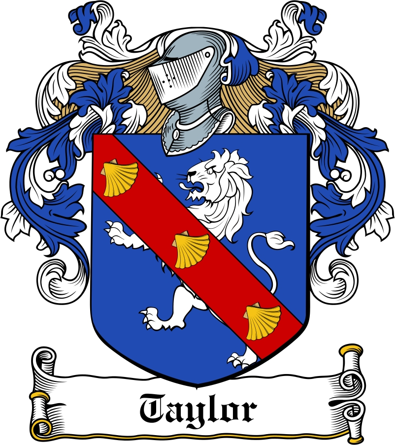 Taylor Family Crest Irish Coat Of Arms Image Download Download