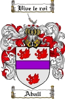 Pay for Aball Family Crest Aball Coat of Arms Digital Download