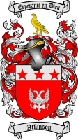 Pay for Atkinson Family Crest / Atkinson Coat of Arms