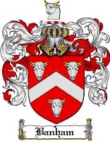 Pay for Banham Family Crest  Banham Coat of Arms