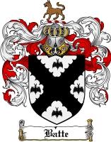 Pay for Batte Family Crest  Batte Coat of Arms