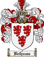 Pay for Belhouse Family Crest Belhouse Coat of Arms Digital Download