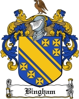 Pay for Bingham Family Crest  Bingham Coat of Arms