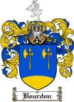 Pay for Bourdon Family Crest  Bourdon Coat of Arms