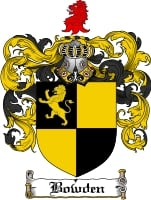 Pay for Bowden Family Crest  Bowden Coat of Arms
