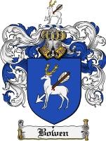 Bowen family crest bowen coat of arms digital download download f