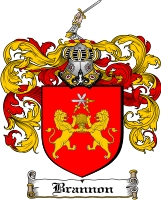 Pay for Brannon Family Crest  Brannon Coat of Arms