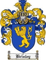 Pay for Brinley Family Crest Brinley Coat of Arms Digital Download