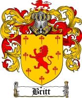 Pay for Britt Family Crest  Britt Coat of Arms