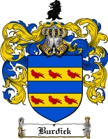 Pay for Burdick Family Crest  Burdick Coat of Arms
