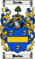 Pay for Burton Family Crest / Burton Coat of Arms