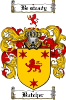 Pay for Butcher Family Crest  Butcher Coat of Arms