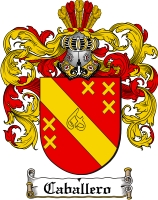 Pay for Caballero Family Crest  Caballero Coat of Arms
