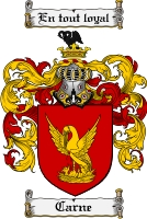Pay for Carne Family Crest Carne Coat of Arms Digital Download
