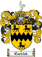 Pay for Carrick Family Crest Carrick Coat of Arms Digital Download