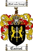 Pay for Carrol Family Crest  Carrol Coat of Arms