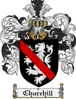 Pay for Churchill Family Crest Churchill Coat of Arms Digital Download
