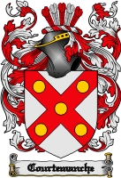 Pay for Courtemanche Family Crest  Courtemanche Coat of Arms