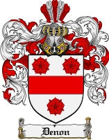 Pay for Denon Family Crest  Denon Coat of Arms