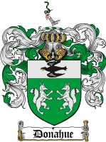 Pay for Donahue Family Crest  Donahue Coat of Arms
