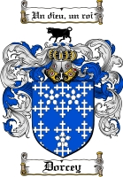 Pay for Dorcey Family Crest  Dorcey Coat of Arms