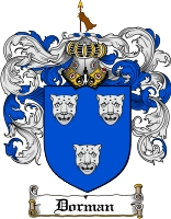 Pay for Dorman Family Crest  Dorman Coat of Arms