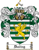 Pay for Duning Family Crest  Duning Coat of Arms