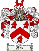 Pay for Fox Family Crest Fox Coat of Arms Digital Download
