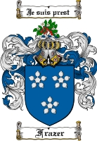 Pay for Frazer Family Crest  Frazer Coat of Arms