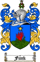 Pay for Funk Family Crest  Funk Coat of Arms
