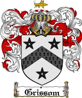 Pay for Grissom Family Crest  Grissom Coat of Arms
