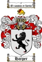 Pay for Harper Family Crest / Harper Coat of Arms