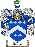 Pay for Hatcher Family Crest  Hatcher Coat of Arms Digital Download