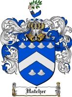 Pay for Hatcher Family Crest  Hatcher Coat of Arms Digital Download