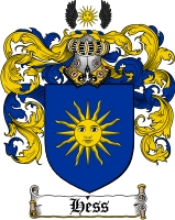 Pay for Hess Family Crest / Hess Coat of Arms