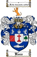 Pay for Keen Family Crest  Keen Coat of Arms