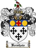 Pay for Kershaw Family Crest Kershaw Coat of Arms Digital Download