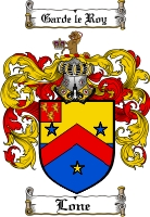 Pay for Lone Family Crest  Lone Coat of Arms