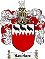 Pay for Lovelace Family Crest Lovelace Coat of Arms Digital Download