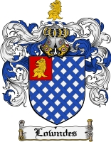 Pay for Lowndes Family Crest Lowndes Coat of Arms Digital Download