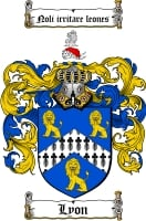 Pay for Lyon Family Crest / Lyon Coat of Arms